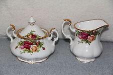 Royal Albert OLD COUNTRY ROSES 9 oz Creamer & Covered Sugar Bowl NWT
