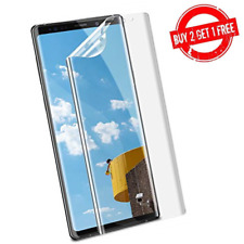 Samsung Galaxy Note 9 Full Coverage Clear Case Compatible Film Screen Protector