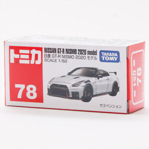 Tomica 1/62 Nissan GT-R NISMO 2020 NO.78 White Metal Diecast Vehicle Car