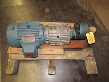 Reliance Electric Motor W/Forced Control Clutch/Brake and Flex-In-Line Reducer