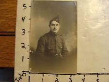 vintage real Photo postcard  military: man in uniform, L. Gaude, lyon france