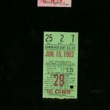 6-15-1962 Cincinnati Reds @ Philadelphia Phillies Ticket - Roy Sievers HR