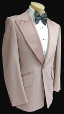 Men's Vintage Dusty Rose Pink Tuxedo Jacket Satin Lapels Retro 1970's Disco 40R