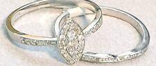 9CT WHITE GOLD 0.25CT TOTAL WEIGHT DIAMOND BRIDAL RING SET SIZE M (RRP £400)