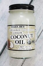🔥 Trader Joe's Organic Virgin  Coconut Oil  Cold Pressed Unrefined 16 oz 🔥