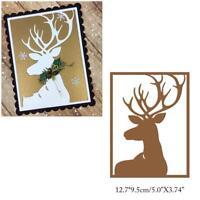 Deer Frame Metal Cutting Dies Scrapbooking Card Embossing Craft DIY Cut Stencil