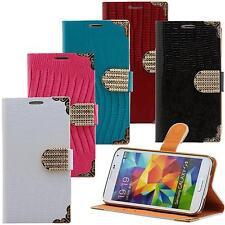 Strass Handy Tasche Book Style Schutz Hülle Klapp Etui Flip Cover Schale Case