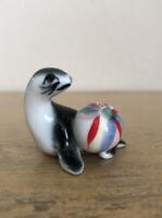 Vintage Seal With Ball Bone China Figurine Miniature Japan