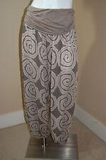 FIONDOTINTA Light Weight Genie Harem Print Pants~Made In Italy