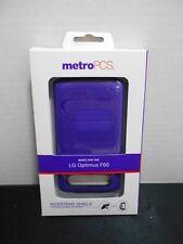 Metro PCS LG Optimus F60 KickStand Sheild Cell Phone Cases Purple