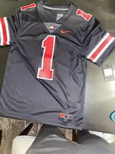 Ohio State Nike Blackout Jersey #1 (Mens Small) Justin Fields