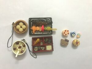 Dollhouse miniature food breakfast lunch 9 pieces 1:6-1:12 scale