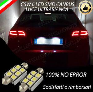 COPPIA LUCI TARGA 6 LED AUDI A3 SPORTBACK FINO AL 2009 CANBUS 100% NO ERROR