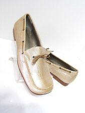 BANANA REPUBLIC Beige  Snake Skin Embellished Loafers Shoes SZ 6