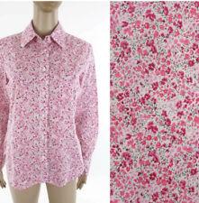 nwt Liberty of London Art Fabrics Phoebe Pink Floral Print Shirt Blouse Womens S