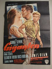 GIGANTEN - Filmplakat Plakat Poster - JAMES DEAN ELIZABETH TAYLOR GIANT (#4)