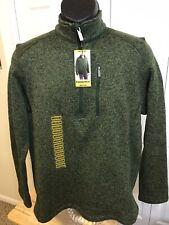 NWT Mens WOOLRICH Cedar Green Outerwear 1/4 Zip Fleece Line Sweater Jacket Sz M