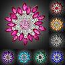Fashion Rhinestone Crystal Flower Wedding Bridal Bouquet Brooch Pin Jewelry Gift