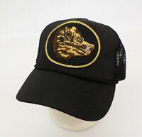Boars Head Hat Cap Deli Meat Patch Cheese Pig Hog Snapback Mesh Trucker Black