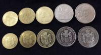 SERBIA SET 5 COINS 1 2 5 10 20 DINARA 2011 UNC