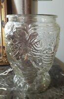 5 pounds!! Majestic Vintage Elephant Vase Heavy Pressed Glass pachyderm vase
