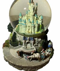 Disney Cinderella Musical Snowglobe So This Is Love Retired Walt Disney Castle