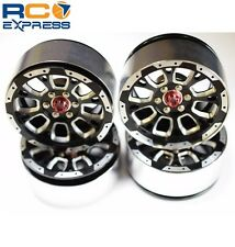 Hot Racing Aluminum Billet 2.2 Beadlock Wheels w/ 12mm Hex (C-Style) BLW22SLC01