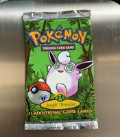 1st Edition Sealed Jungle Pokemon Booster Pack Wigglytuff Art WOTC