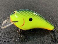 Hot Mustard Color Custom Balsa Squarebill PH Custom Lures Tiny Hunter