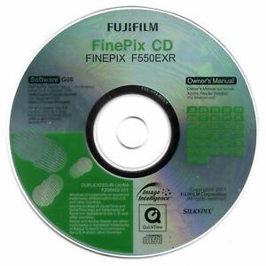 Fujifilm Finepix F550EXR Digital Camera CD Software & Manual Disk