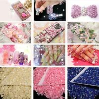 1000Pcs 14 Facets Resin Rhinestone Gem Flat Back Crystal AB Beads 4mm DIY Hot