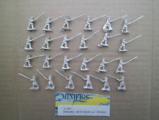 15mm Mini Figs Japanese Armored retainers  with Spear