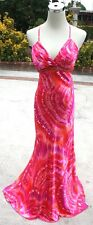 NWT BEATS STUDIO LA.$150 Fuchsia /Orange Formal Gown 11
