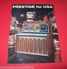 PRESTIGE 160 USA By NSM 1970 ORIGINAL JUKEBOX PHONOGRAPH SALES FLYER BROCHURE