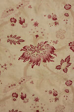 Vintage French fabric Arborescent Indienne floral design ~ LOVELY faded aged old