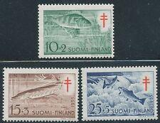 Finland 1955 MNH Stamps - Fish - Perch, Pike & Salmon - Fauna - Scott B120-122