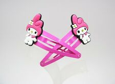 2 My Melody Soft Rubber Hair Clip Girl Barrette (Free Shipping 2 pieces) Mm904