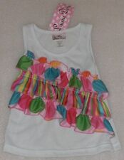 NEW Laura Dare Multi Color Ruffle Tank Top Shirt Size 3T NWT