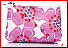 CLINIQUE FLORAL PINK MAKEUP CASE FOR TRAVEL