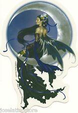 "Nene's Solace Fairy Sticker An Elegant, Raven-Haired Fairy 4""x5.5"" die-cut"