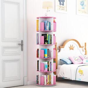 Rotating Book CD Shelf Storage Book Rack Book Shelves Bookcase CD Cases