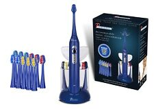 Pursonic S430 SmartSeries Sonic Rechargeable Toothbrush w/ 12 Brush Heads, Blue