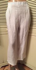 Eileen Fisher White Organic Handkerchief Linen Wide Leg Ankle Pants PL NWT $178