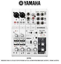 YAMAHA AG06 MIXER USB 6 CANALI CON INTERFACCIA SCHEDA AUDIO PER HOME RECORDING
