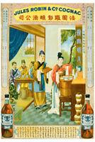 VINTAGE ASIAN LIQUOR AD ART PRINT POSTER - Cognac Robin