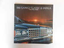 1981 Chevy Caprice Classic/Impala Product Brochure
