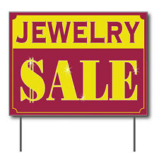 """Jewelry Sale Curbside Sign, 24""""w x 18""""h, Full Color Double Sided"""