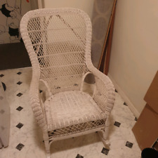 Vintage wicker rocking chair