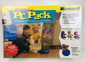 Vintage Microsoft Actimates PC Pack new sealed accessory pack Barney Arthur