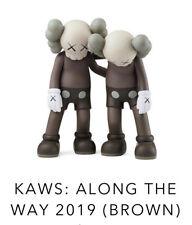 KAWS Along The Way Figure Brown Companion Vinyl Figure Order Confirmed Brand New